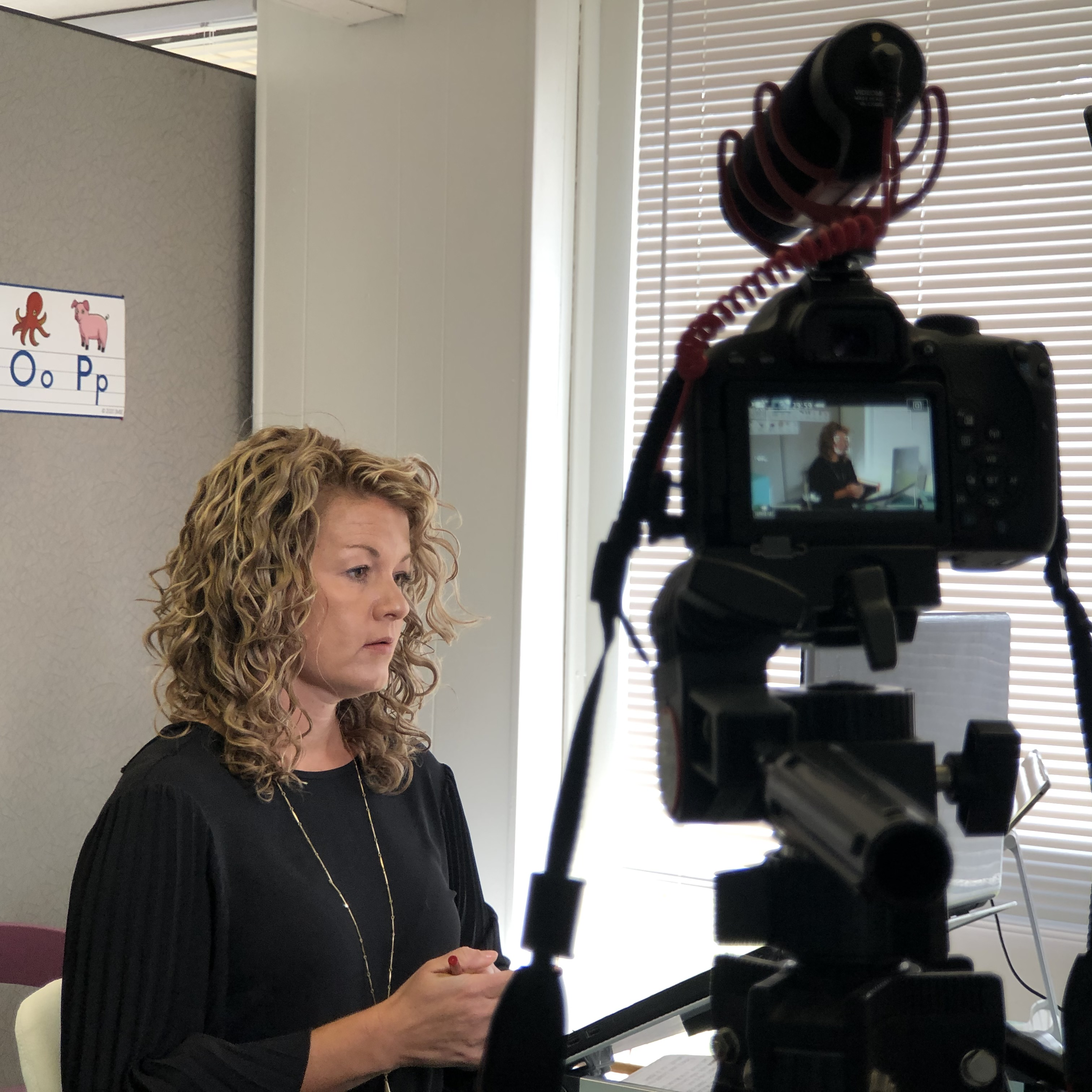 photo of video interview